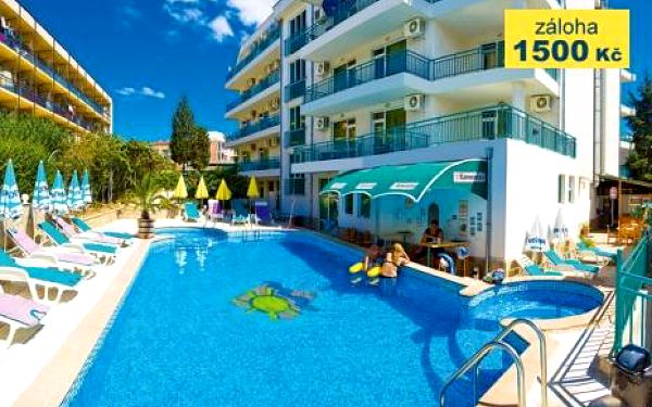 Bulharsko, oblast Primorsko, doprava letecky, snídaně, ubytování v 3* hotelu na 12 dní