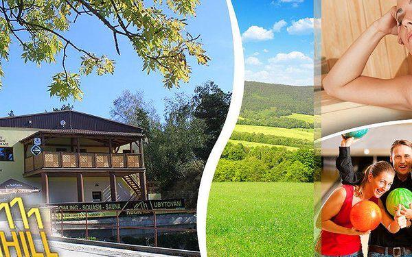Jižní Čechy, pobyt pro 2 osoby na 3 dny se snídaní, bowlingem, saunou a odpolední kávičkou pro oba. Možnost zapůjčení kol, masáží. Užijte si propojení sportu a zábavy, relaxace a wellness v penzionu Sportcentrum Rockhill Dačice v blízkosti regionu Česká K