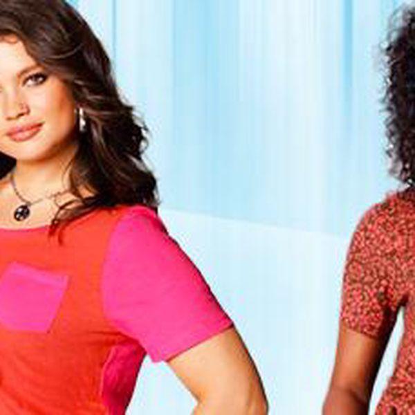 Trendy trička ve velikostech: 40–52. Neoblékáme jen Barbíny!