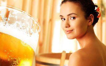 Pivní lázeň s neomezenou konzumací piva v penzionu U Čtyřlístků na Pardubicku