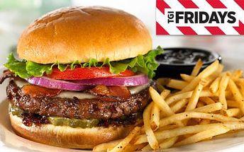 T.G.I FRIDAY'S Anděl! Sleva na VEŠKERÁ JÍDLA: steaky, hamburgery, žebírka, saláty a další speciality amerického jihozápadu se 45 % slevou! To nejlepší z americké kuchyně!!!