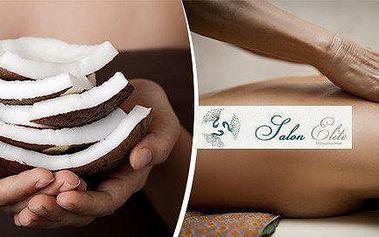 Luxusní Indonéská Bali kokosová masáž v nádherném masážním salonu Elite přímo v centru Prahy