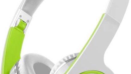 Sluchátka Prestigio PBHS1 bezdrátová bílá/zelená