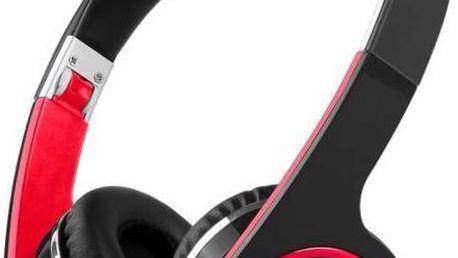 Sluchátka Prestigio PBHS1 bezdrátová černá/červená