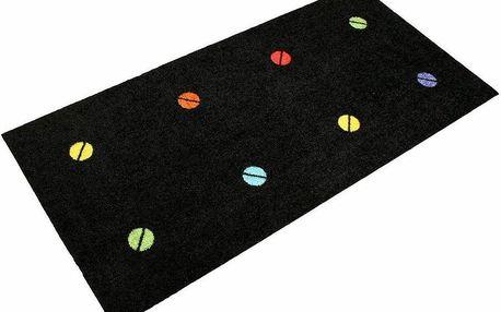 Univerzální rohožka Spot On Black, 150x70 cm
