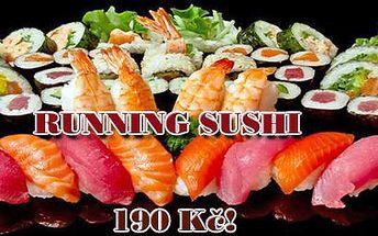 RUNNING SUSHI All you can eat v centru Prahy u náměstí Republiky! Vybírejte z široké nabídky čerstvého sushi a teplých i studených asijských specialit na dvou jezdících pásech!