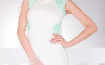 Krásné a příjemné pouzdrové šaty s krajkou