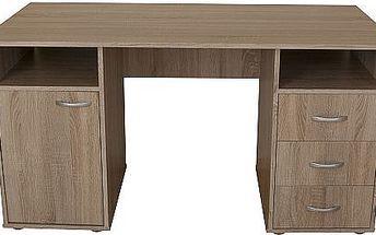 Psací stůl KUBA s množstvím úložného prostoru, 3 zásuvky, výběr z 5 barevných dekorů