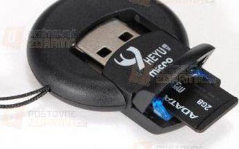 Přenosná USB čtečka TF a Micro SD / SDHC karet a poštovné ZDARMA! - 9999902907
