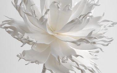 Umělá květina Lambada White
