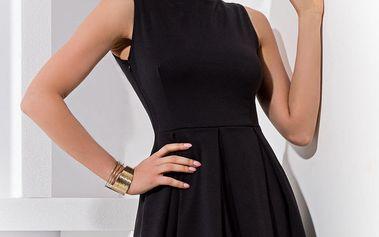 Krásné koktejlové černé šaty
