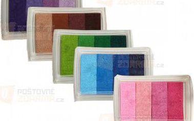 Barevné inkoustové polštářky - 6 barev a poštovné ZDARMA! - 9999907225