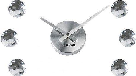 Nástěnné hodiny skládající se z dvanácti kusů diamantů Karlsson KA5235