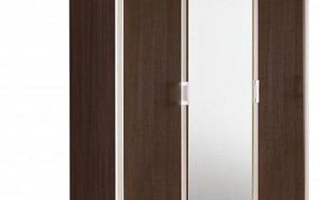 Třídveřová šatní skříň se zrcadlem LUPO II