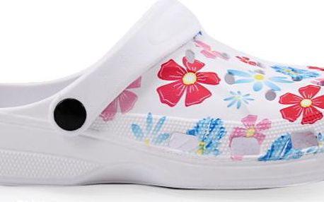 Gumové pantofle s květy