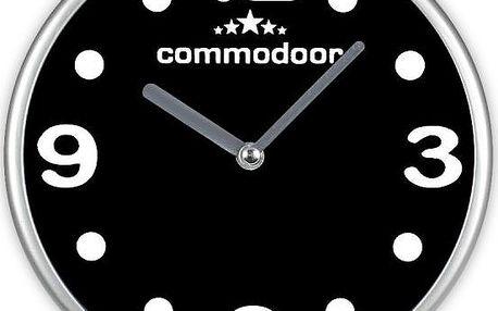 Černobílé nástěnné hodiny Time Life Commodoor TL-156Č černá