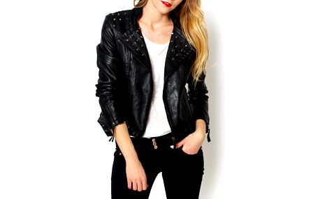 Stylová dámská bunda koženková. Velikost: 38 (M)