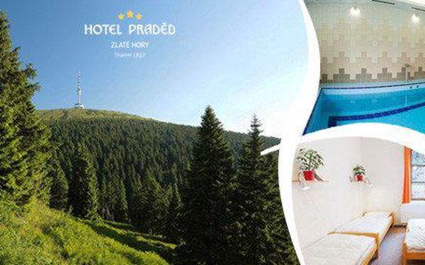 3denní pobyt na horách pro 2 v Turistické ubytovně v Hotelu Praděd***- Thamm