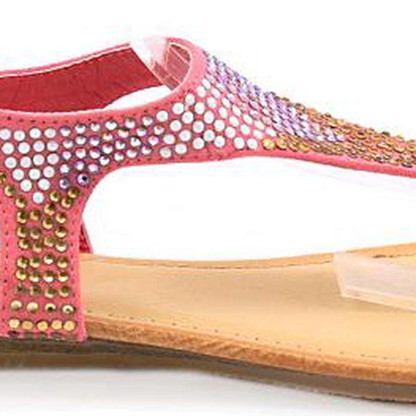 Sandálky s barevnými kamínky
