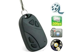 Špionská kamera ve tvaru klíčenky s videonahráváním a fotoaparátem