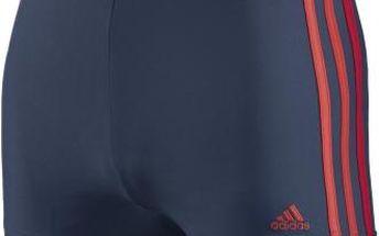 Pánské plavecké boxerky - adidas 3 STRIPES BOXER modrá