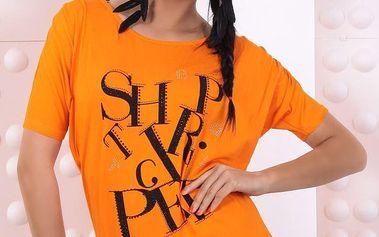 Dámské oranžové tričko s nápisem