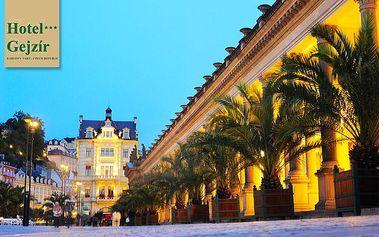 Karlovy Vary pro dva s polopenzí a saunou v hotelu Gejzír***