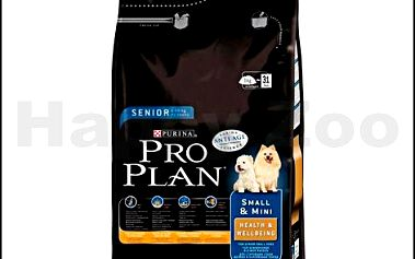 Kompletní granulované krmivo pro psy PRO PLAN Dog Senior Small and Mini Health and Wellbeing Chicken 3kg