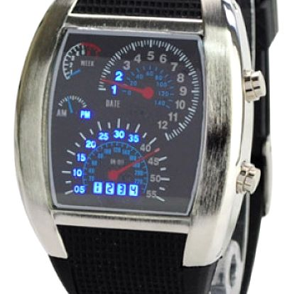 Pánské LED hodinky s originálním ciferníkem