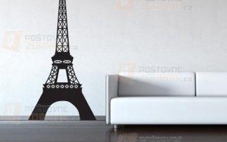 Samolepka na zeď - Eiffelova věž a poštovné ZDARMA s dodáním do 3 dnů! - 9999917528