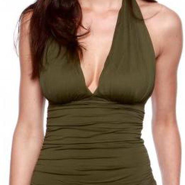 Krásné dámské plavky Gant 460091_ss13 tmavě zelená