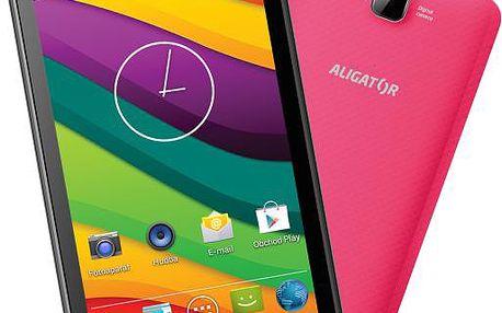 Smartphone Aligator S4030 Duo, růžový