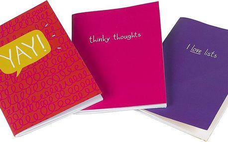 Sada 3 malých notesů Mini Notebook