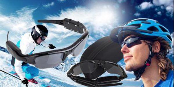 Sluneční brýle s kamerou, foťákem a přenosným úložištěm! Elegantní brýle, co zachytí každý okamžik!