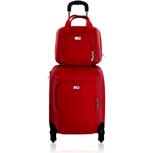 Sada tašky na kolečkách a příruční tašky Vanity Red, 46 + 12 l - doprava zdarma!