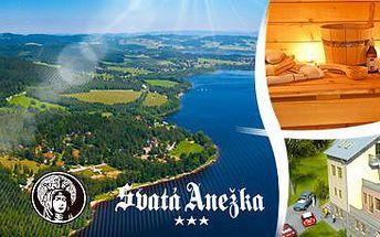 Hotel Svatá Anežka***: 3denní relaxace pro 2 s polopenzí a s wellness – Lipno.