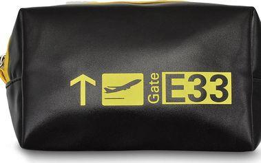 Cestovní kosmetické pouzdro Gate Black and Yellow