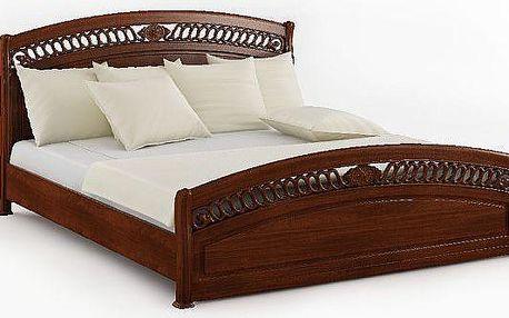 Dřevěná postel v rustikálním stylu SCONTO MODENA