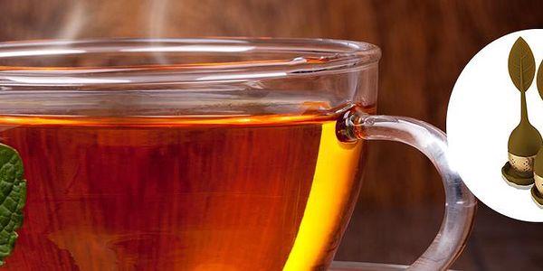 Originální čajové sítko ve tvaru listu