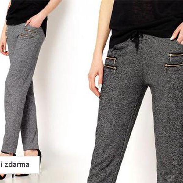Dámské módní kalhoty sportovního střihu