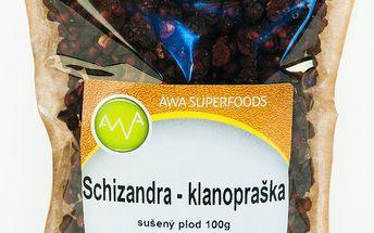 Schizandra čínská - klanopraška, sušený plod 100g