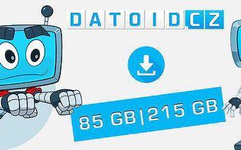 Kredit 85 GB či 215 GB na videa, hudbu i další data