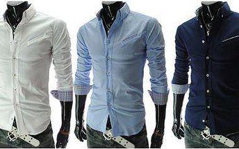 Nový model pánské košile Slim Fit ve třech barevných variantách