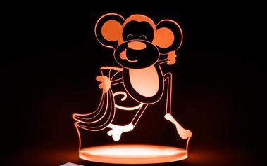 Dětské LED noční světýlko Aloka Monkey - doprava zdarma!