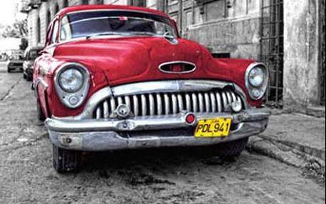 Obraz na skle Auto, 50x50 cm