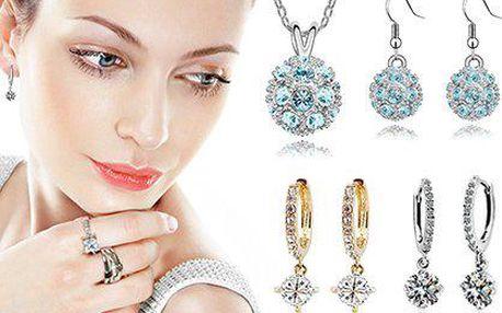 Náušnice či 3dílná sada šperků s krystaly Swarovski Elements