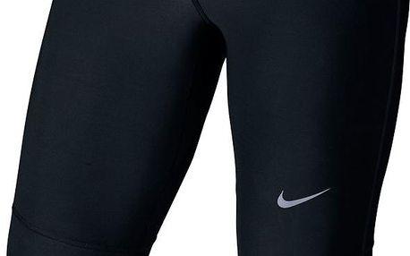 Pánské běžecké 3 kalhoty Nike Tech Capri silver, černá