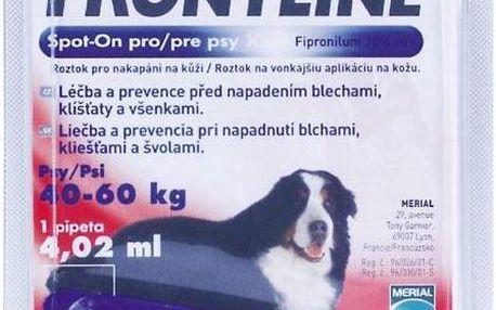 Frontline Spot-On Dog XL sol 1x4,02ml MONO, pro obří psy červené