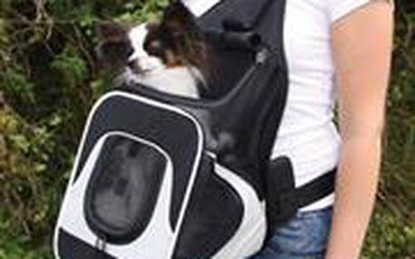 """Trixie Nylonový batoh na psa """"klokanka"""" 30x26x33cm černo-šedý"""