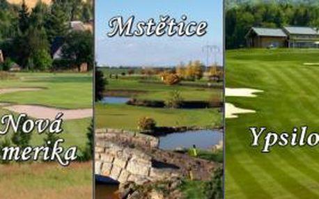 Golfová sezona začíná, odstartujte ji ve 3 oblíbených golfových resortech s 50% slevou. Získejte balíček green fee Ypsilon - Mstětice - Nová Amerika a vychutnejte si 3 výjimečná hřiště